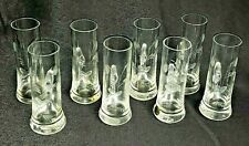 Vintage Etched Crystal Glass Shot Glass With Handles Made in Poland