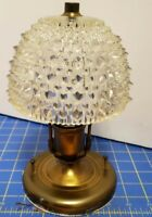 Vintage Brass And Glass Light Fixture