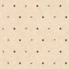 Wallpaper Country Barn Red Star Spot and Berries on Beige Background Berry Stars