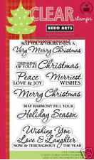 HERO ARTS Clear Stamps JOY TO YOU # CL543 MERRY CHRISTMAS HOLIDAY PEACE LOVE JOY