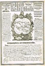 """Henry"" French Department Map & Stats. - ""AUBE & AUDE"" - Steel Eng. - 1835"
