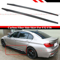 For 14-2020 BMW F32 F33 F36 4 Series Carbon Fiber Side Skirt Extension Splitter