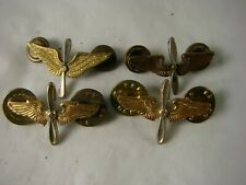 Lot of 4 Us Airforce Lapel Pins Military Insignia Clutchback 004