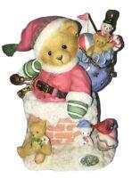"CHERISHED TEDDIES KRIS ""Up on the Roof Top"" 1997 Enesco Santa Toys Christmas"