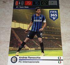 CARD ADRENALYN FIFA 365 CALCIATORI PANINI INTER RANOCCHIA CALCIO
