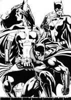 DC Comics BATMAN HUNTRESS BATGIRL Original Art JOKER ROBIN CATWOMAN HARLEY IVY