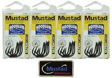 20 Mustad Hoodlum 10827NPBLN 7/0 Assist Jigging Live Bait hook + Mustad Patch