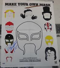 Rey Mysterio Signed WWE 16x21 Magazine Centerfold Mask Poster PSA/DNA COA Auto'd