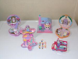 VINTAGE Polly Pocket Bluebird Bundle Compacts Bay Window House 90's Dolls