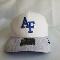 AF Falcons University Nike Baseball Cap HAT NWT Blue White AEROBILL Dri Fit FLEX