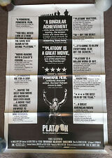 1986 Oliver Stone's PLATOON Authentic folded REVIEW style movie poster 1-sheet