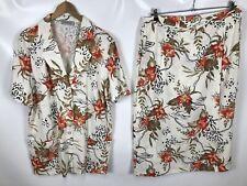 CANDA Damen 2 Teiler, Bluse+Rock, Größe 46, mehrfarbig, Muster, leicht, Sommer