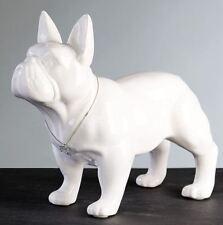 96371 Escultura Bulli CERÁMICA BLANCO CON PLATA Collar&knochen-anhänger