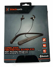 BlackWeb Wireless BlueTooth  NeckBand EarBuds Build-in Micr (BWA18AA003)[U]™