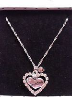 BIRTHDAY HEART CHARM GIFT NECKLACE NAN/SISTER/FRIEND/AUNTIE/GRAN/DAUGHTER/MUM