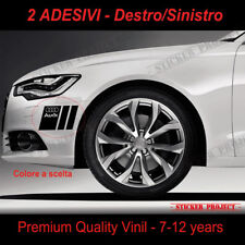 ADESIVI AUDI PARAURTI Black A1 A3 A4 A5 A6 Q3 Q5 Q7 TT RS S line decal stickers