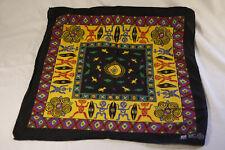 Vintage 90s Tiki Polynesian Handkerchief Bandana Paris Accessories