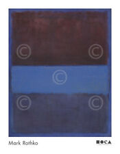 No. 61 (Rust and Blue) Brown Blue, 1953 by Mark Rothko Art Print Poster 36x28
