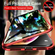 NEW Anti-peep Double Side Magnetic Privacy Protective Tempered Glass Phone Case