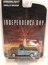 Independence Day 1971 Chevrolet C-10 1:64 Scale Greenlight 44840D