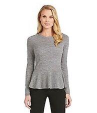 NWT Antonio Melani Slate 100% Cashmere  Carolina  Sweater  Size L  MSRP $129
