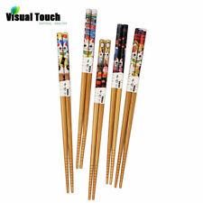 5 Pairs Japanese Chopsticks Lucky Non-Slip Sushi Chop Sticks Set Chinese Gift