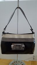 Guess Purse Small / shiny black /grey/ivory Alligator design Pre-owned