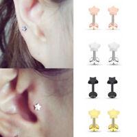 Lip Body Piercing Jewelry Cartilage Helix Tragus Earrings Star Shape Ear Studs