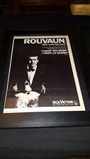 Rouvaun I Want You More Rare Original Promo Poster Ad Framed!