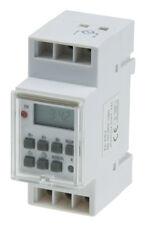 Wochen Zeitschaltuhr digital für Schalttafel Einbau 230V 3500W 16A Hutschiene