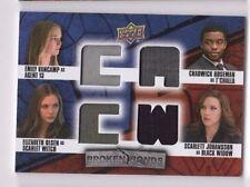 2016 Captain America Civil War costume card quad BB-SWTB SP