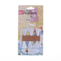 6pc Paper Airplane Push Pins Set Office Flying Pushing Thumbtack Drawing Pin DD