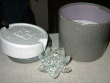 Swarovski Water Lily Candle Holder - Medium (7600Nr 123) Nib