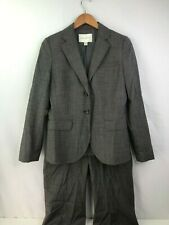 Banana Republic Jackson Fit Stretch 2 Pc Pants Blazer Suit Sz 8 Gray Wool Blend