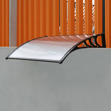Patio Door Awning Window Canopy Rain Shelter Roof Sun Shade Cover ABS Plastic UK
