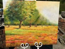 """OIL Painting- LANDSCAPE/BUBBLE LIKE TREES-20""""x24-Stretched.New-Colorful-TEXTURE+"""