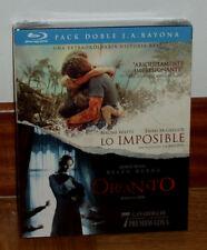 LO IMPOSIBLE-THE IMPOSSIBLE-EL ORFANATO-PACK 2 BLU-RAY-NUEVO-PRECINTADO-DRAMA