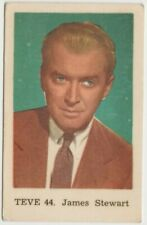 James Stewart Film Star Dutch Gum Trading Card - 1962 Sweden TEVE #44 E4