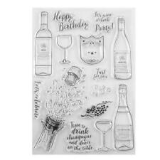 Transparent Silicone Clear Rubber Stamp Cling Diary Scrapbooking DIY Decor