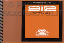 1969 Porsche 912 Owners Manual NOS Original OEM Owner Guide Book