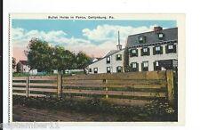 Postcard Bullet Holes in Fence, Civil War Battle Gettysburg,  PA.1920-30's era