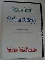 DVD GIACOMO PUCCINI MADAMA BUTTERFLY  TEATRO ALLAPERTO TORRE DEL LAGO ANNO 2004