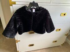 Gymboree Holiday Dress Faux Fur Jacket Black Girl 00004000 S Sz 10-12