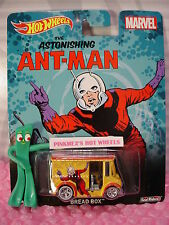 2015 Marvel 💫 Bread Box 💫Astonishing Ant-Man✰Yellow;Real Riders✰Hot Wheels Pop