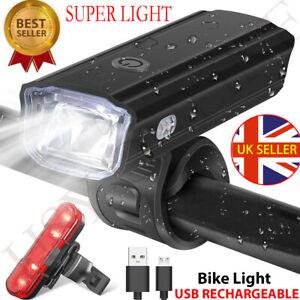 USB Rechargeable Bike Light Set 800 Lumens Bicycle Lights Bike Headlight Front