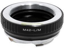 Anello adapter x montare ottiche a vite M42 su corpi Leica M. Adattatore. ALM.