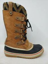 Sorel Joan Of Arctic Knit II 2 Womens Snow Boot Size 7 Brown Leather Waterproof