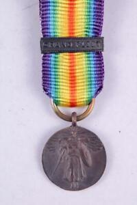 WW1 US ARMY NAVY UNITED STATES VICTORY MINIATURE MEDAL GRAND FLEET BAR