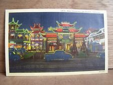 1930-40s America Postcard New China Town Los Angeles California Free UK Post