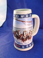 Budweiser Stein 1995 Holiday Edition Handcrafted For Anheuser-Busch
